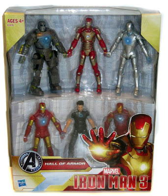 "Hasbro Iron Man 3 3.75"" Hall of Armor Disney Store Exclusive Figure Set"