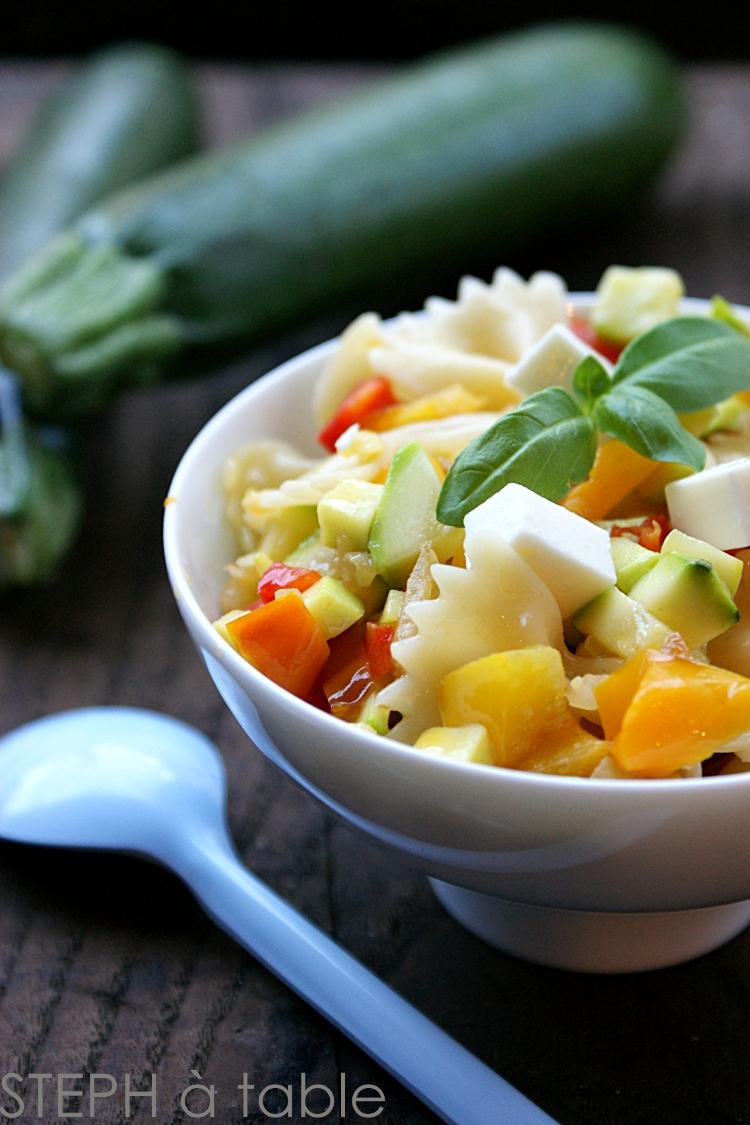 salade de p 226 tes poivrons confits feta stephatable