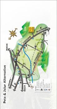 Peta Menuju Desa Sawah