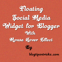 Floating Social Media Widget With Mouse Hover Effect