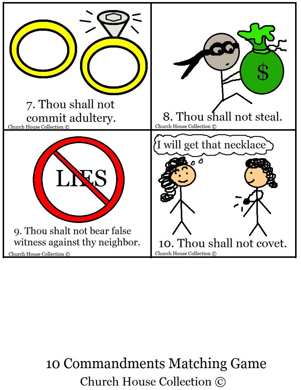Church House Collection Blog: 10 Commandments Bible ...
