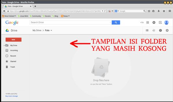 google drive-open folder