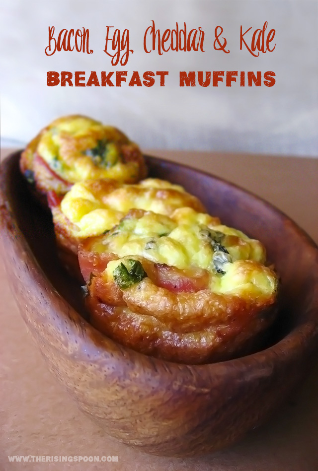 Bacon, Egg, Cheddar & Kale Breakfast Muffins