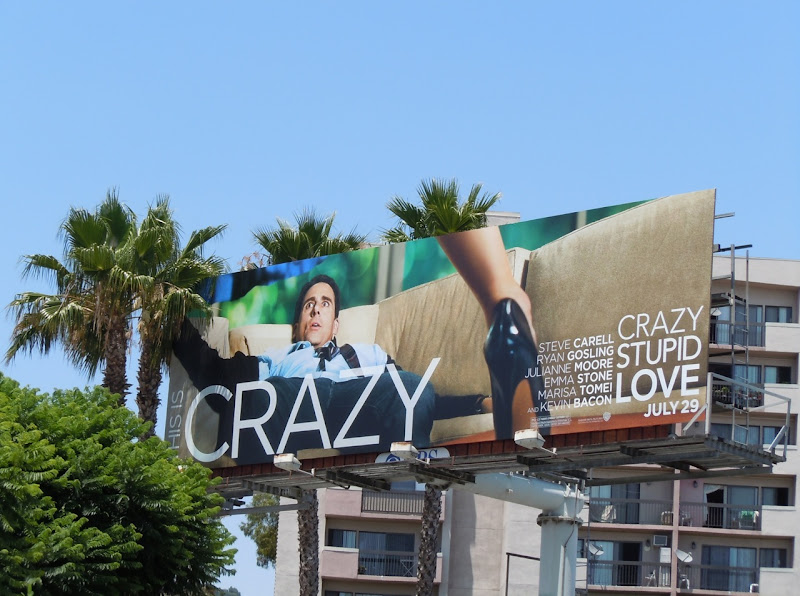 Steve Carell Crazy Stupid Love movie billboard