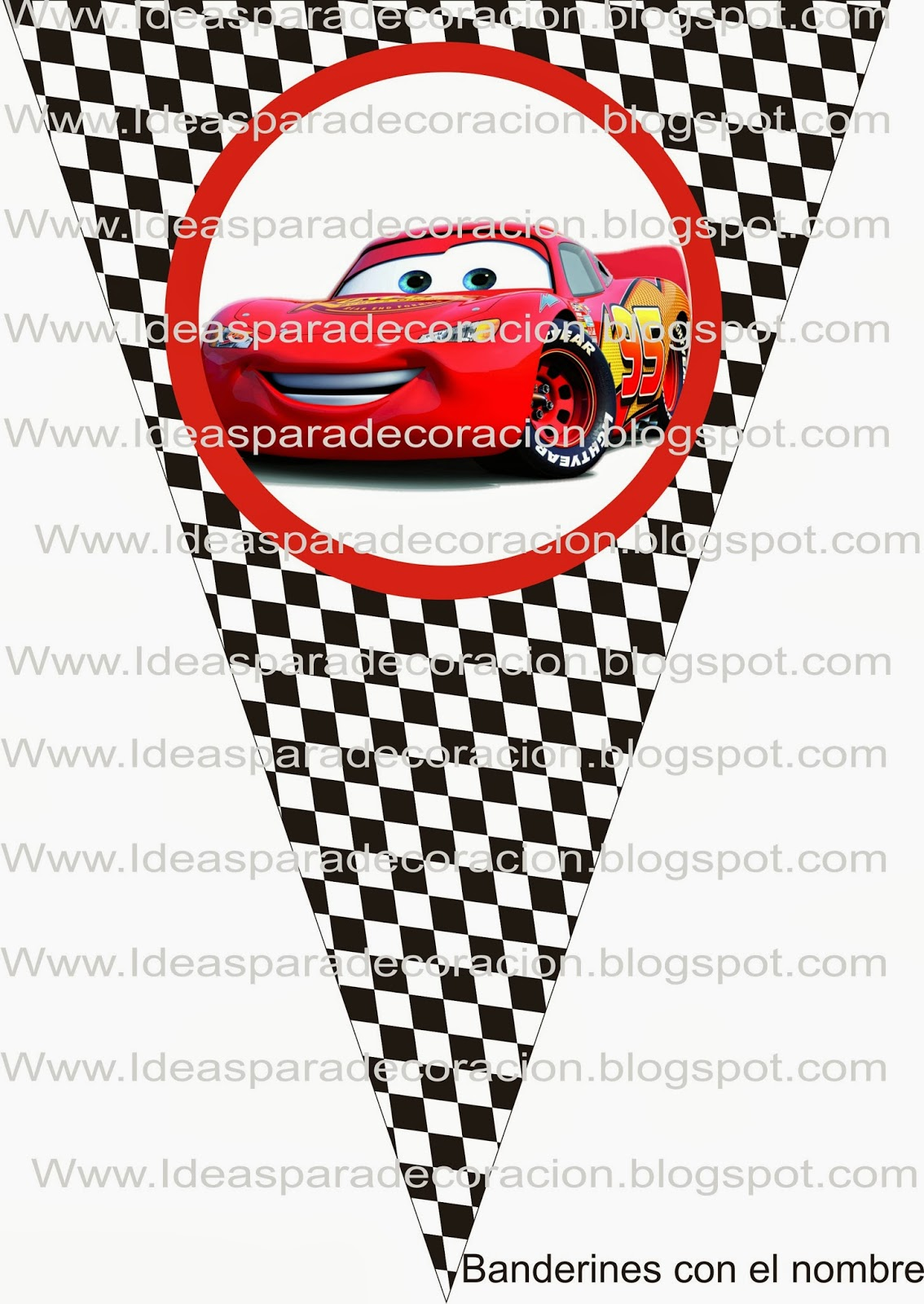 Ideas para la decoraci n de fiestas infantiles kit cars - Decoracion de cars para fiestas infantiles ...