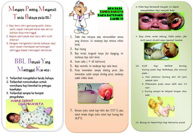 Kumpulan Materi Kebidanan: Leaflet Tanda Bahaya Bayi Baru ...