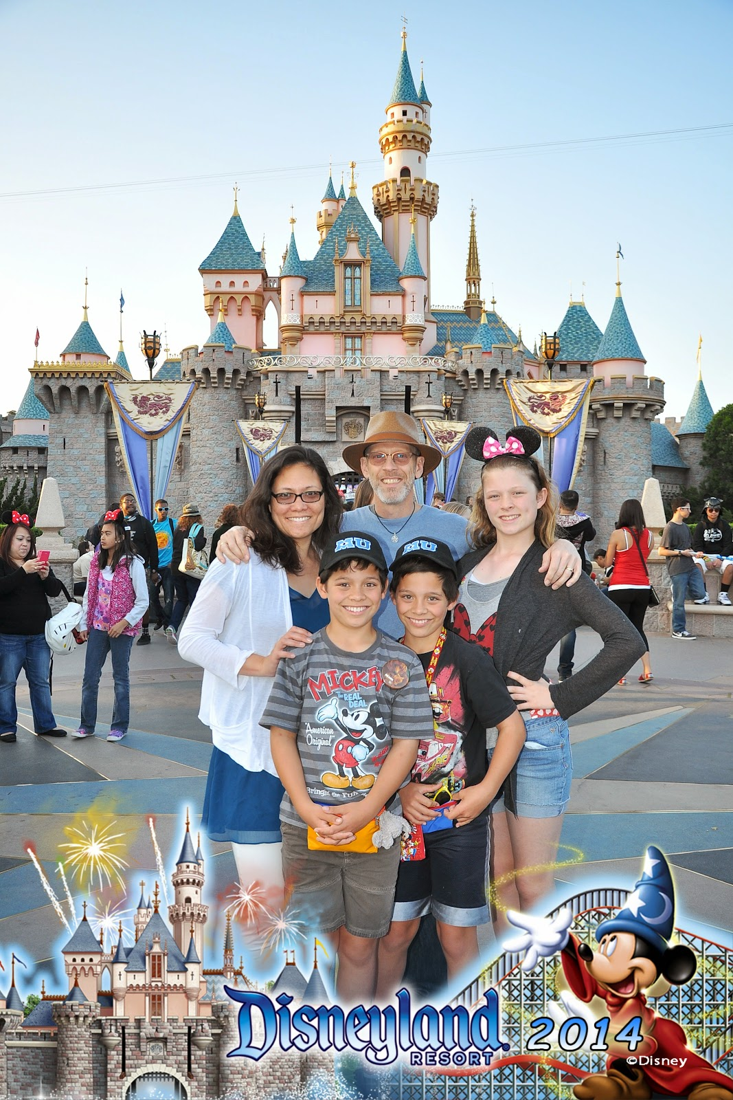 Disneyland family photo