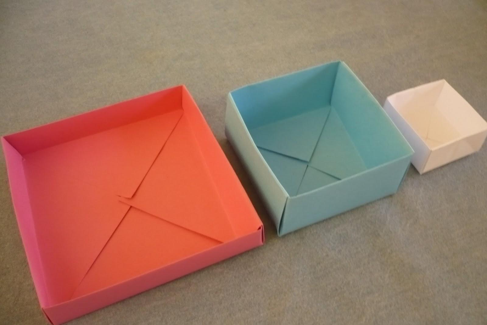 Criações Caseiras Origami Caixas E Caixinhas
