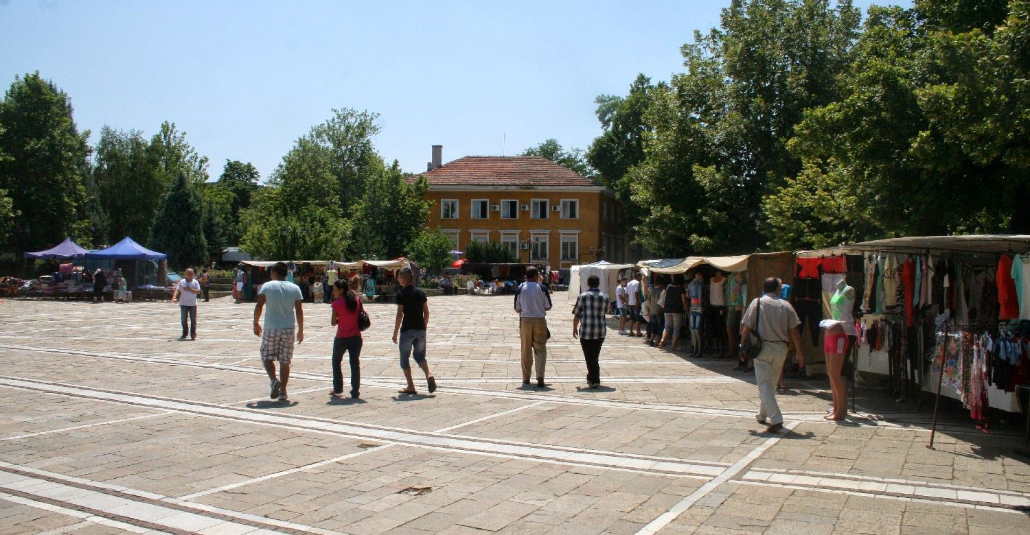 The main square on market day