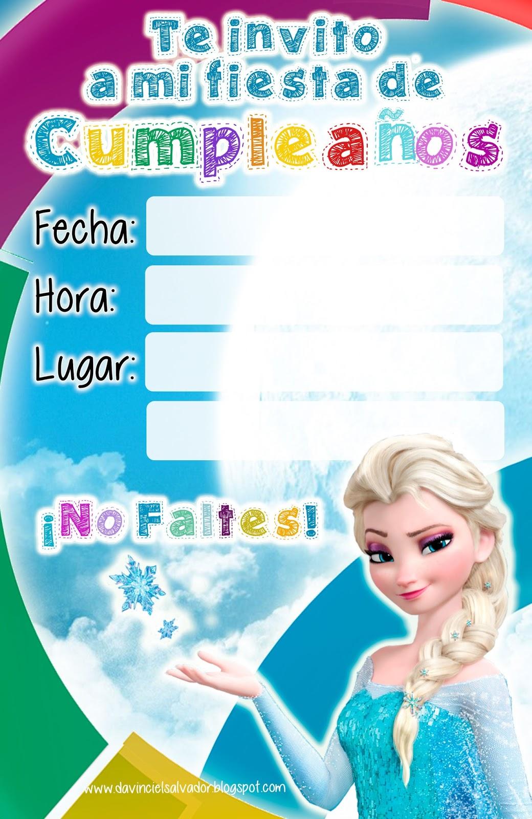 Invitación de Cumpleaños Frozen Reina Elsa