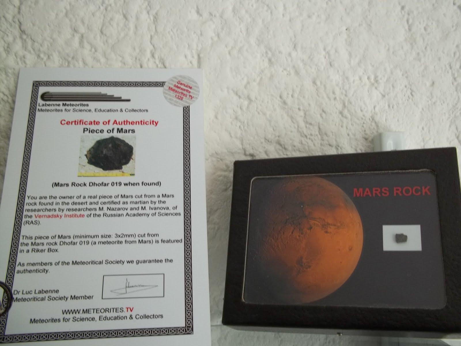 Achat de morceau de m t orite de mars authentifi e notre environnement - Acheter une meteorite ...