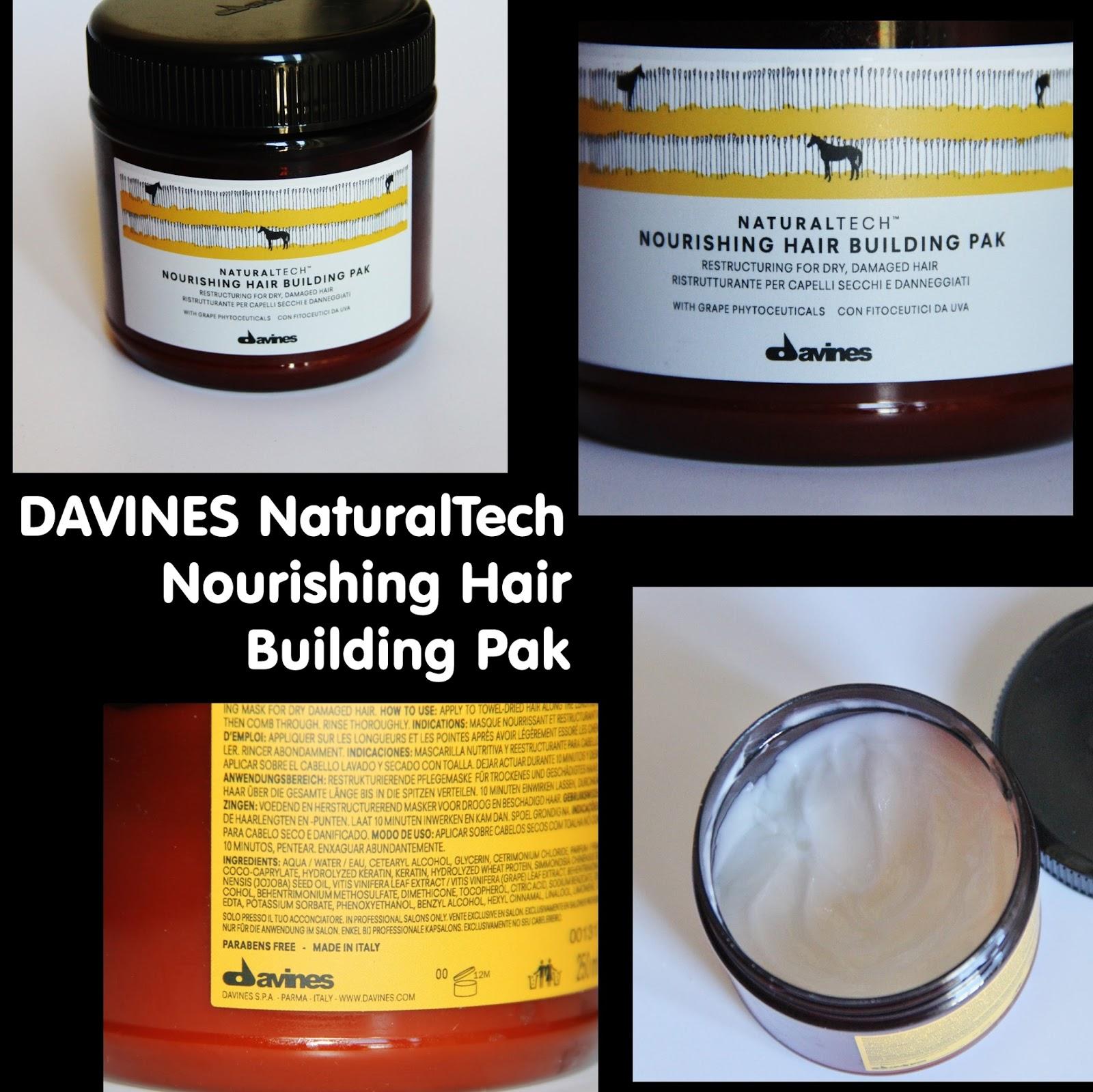 Michelaismyname Davines Naturaltech Nourishing Hair Building Pak Review