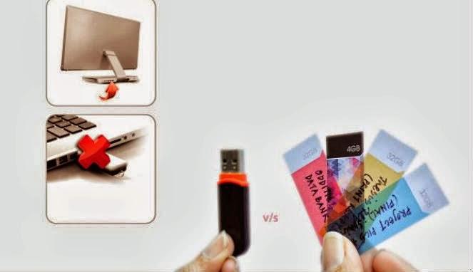 Datastickies Penyimpan Data Mirip Kertas Label