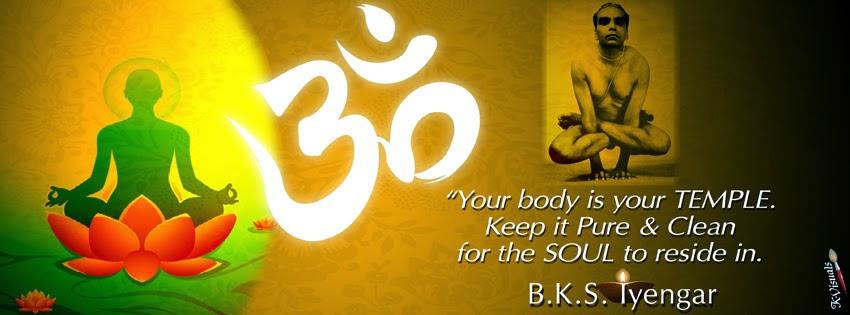 BKS Iyengar Yoga Quotes FB Covers Posted By Umesh Modak