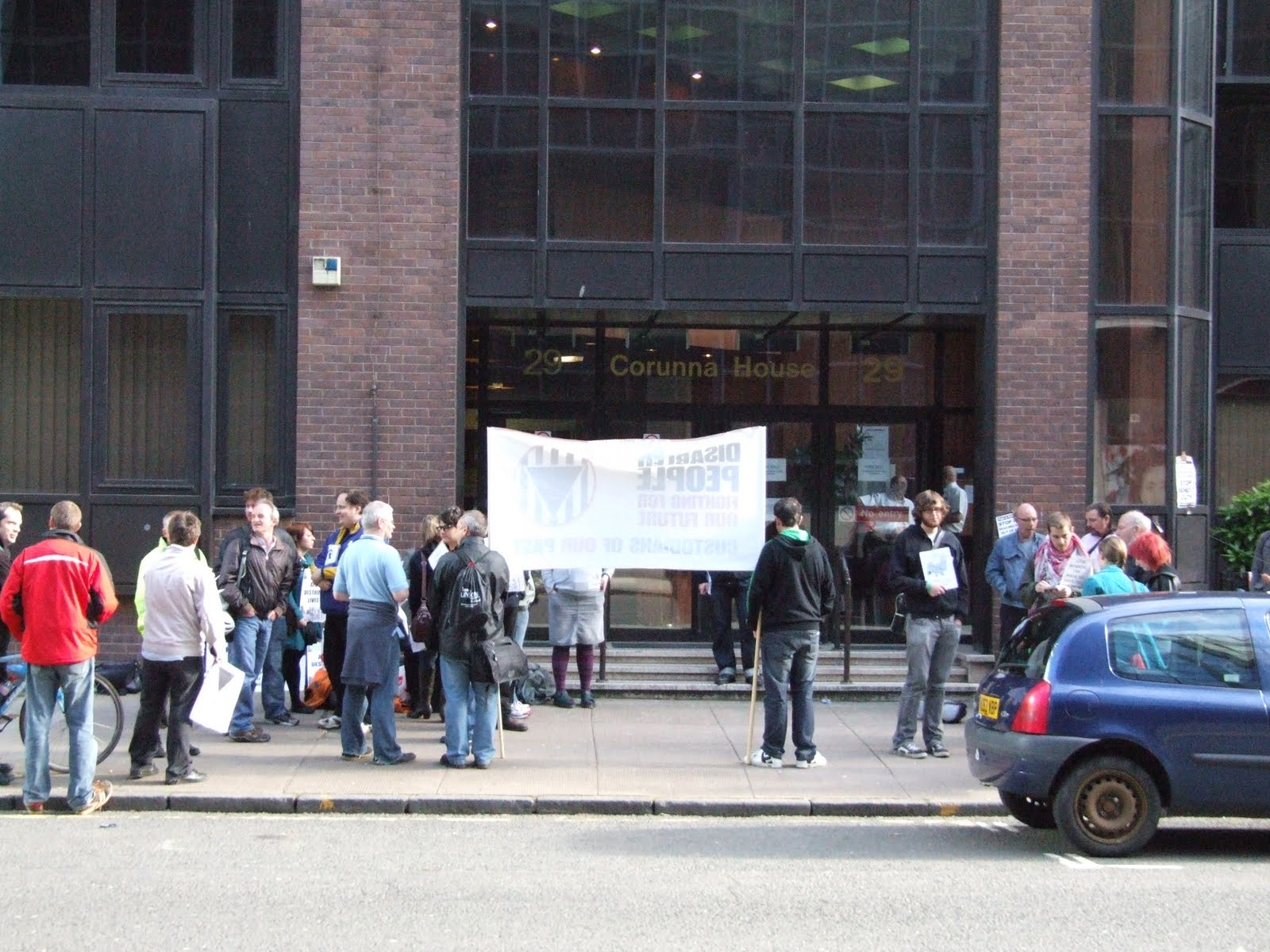 Atos picket at Glasgow