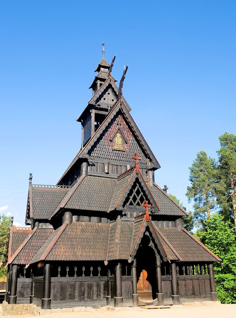 The Gol Stave Church—now located at the Norwegian Museum of Cultural History in Oslo.