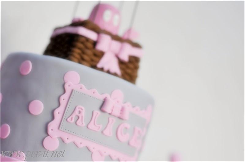 Détail gâteaux Alice rose