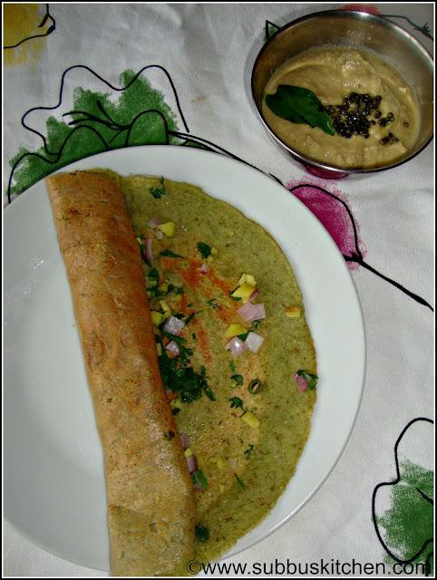 Pesarattu (Green gram dal Dosa)