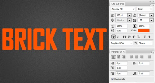 Create a Brick Text Effect In Photoshop
