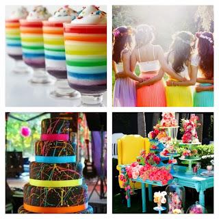 Bright Multi Colour Wedding Cakes