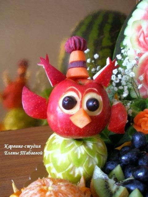 фруктовые поделки совунья смешарики