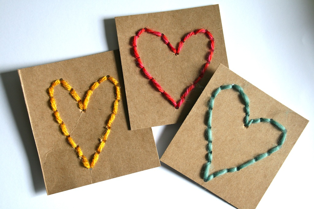 Red bird crafts sew a heart valentine tutorial for Easy heart crafts