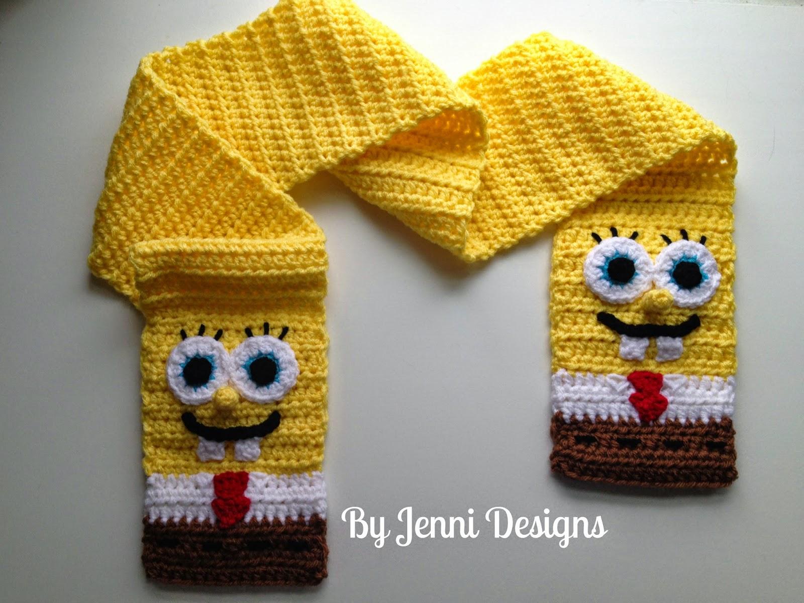 Free Crochet Pattern Spongebob Hat : By Jenni Designs: Free Crochet Pattern: Spongebob ...