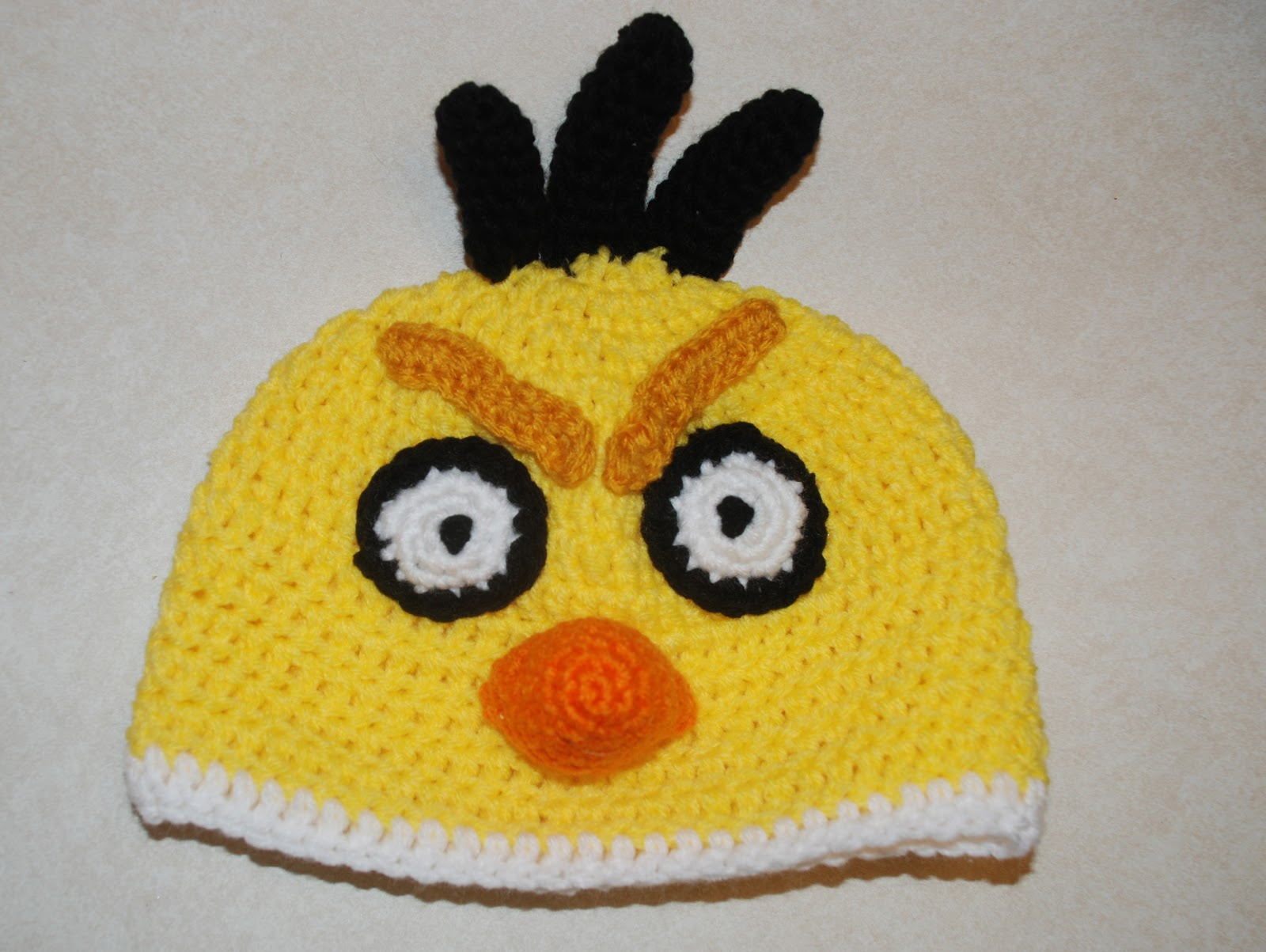 Crochet Hat Pattern Angry Bird : Amys Crochet Creative Creations: Crochet Angry Yellow ...