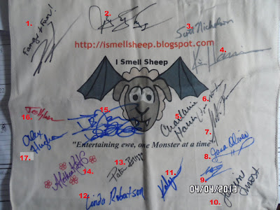 tote bag, Sheep, author, autographs