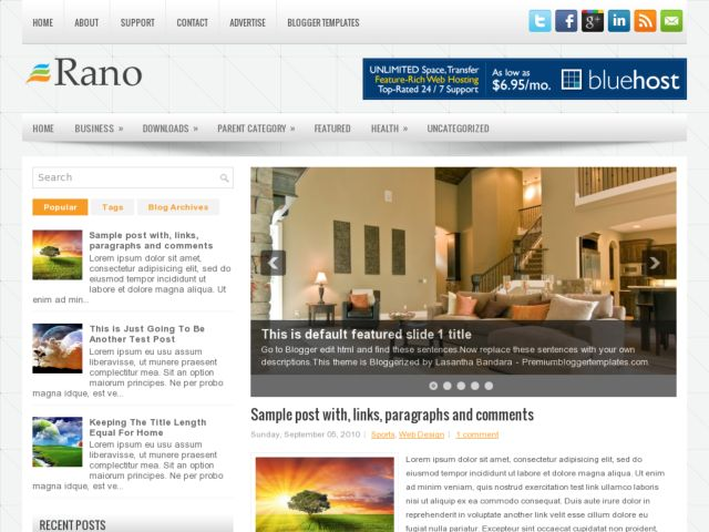 Rano Blogger Template