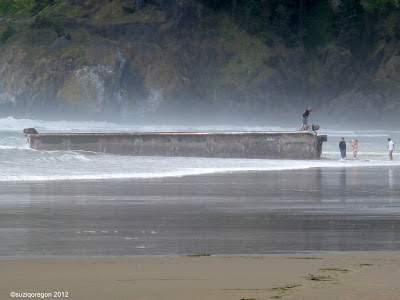Japanese dock on Oregon beach