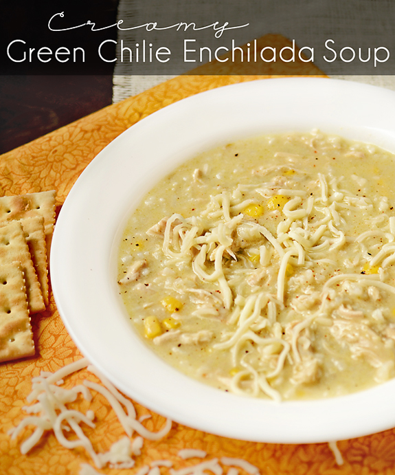 Fat Free Eats: Creamy Green Chilie Enchilada Soup