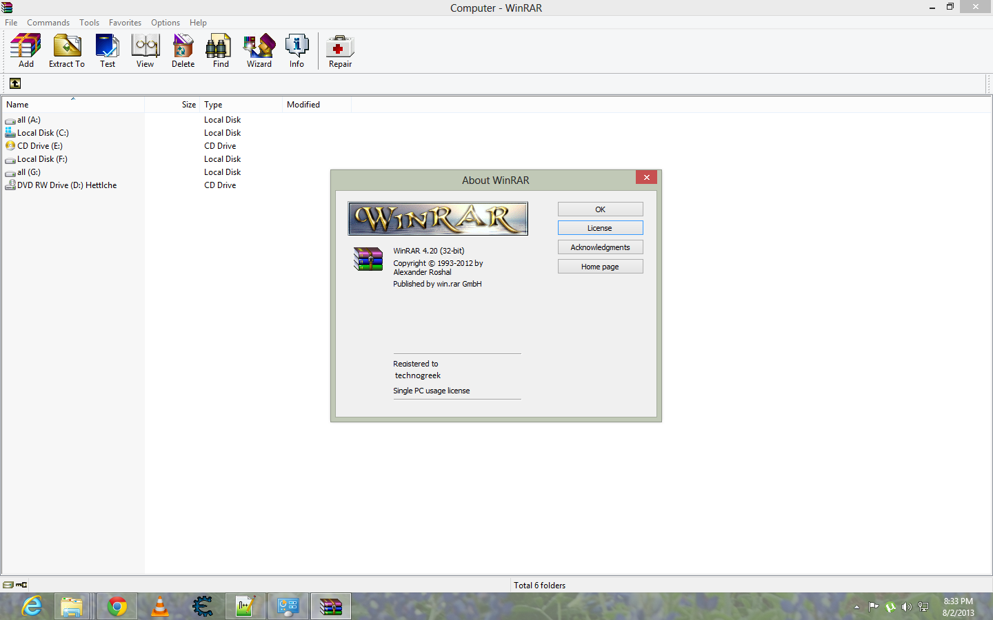 WinRAR 4. 00 32Bit And 64Bit Full-Version-sindrom torrent size: 2. 882 MB.