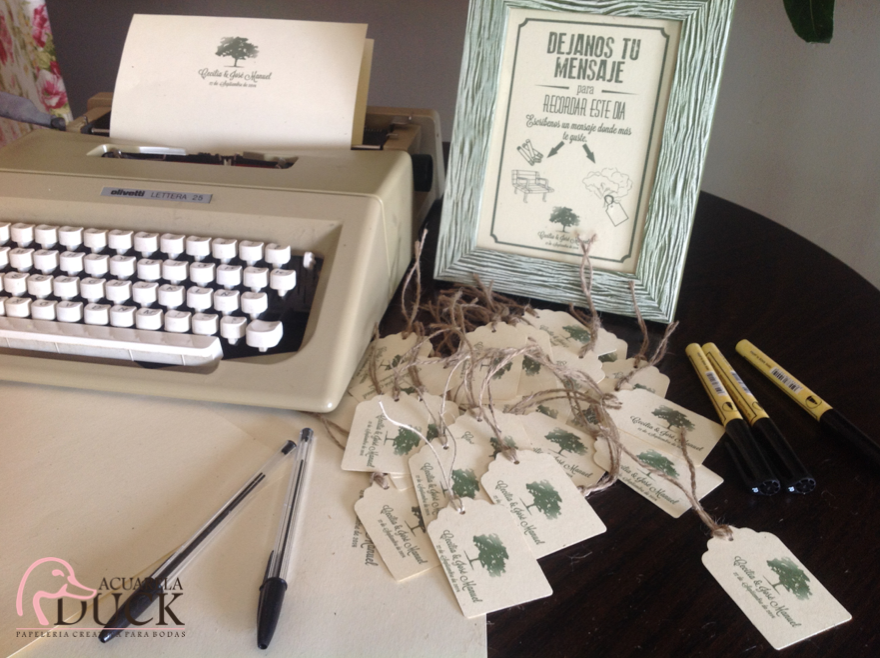 libro de firmas maquina escribir