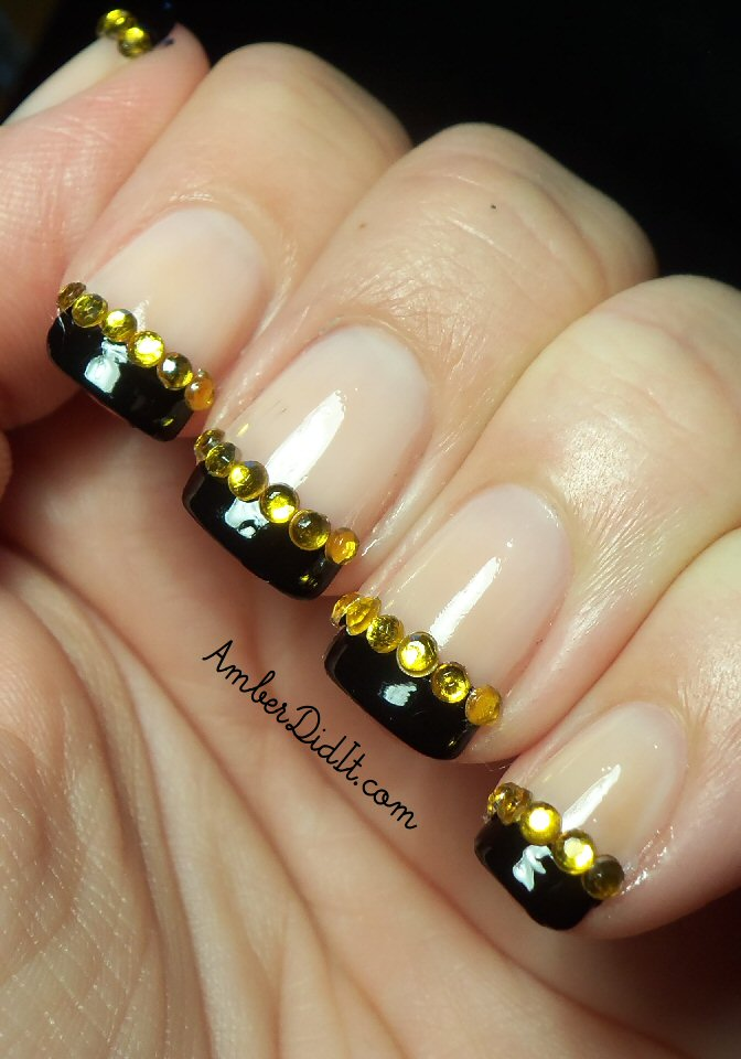Amber did it!: Halloween Jewel French Tips