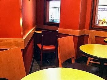 stolik, samotność, pojedynczy, samotny, restauracja