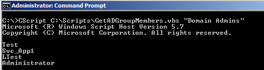 VBScript to Get Active Directory Group Members