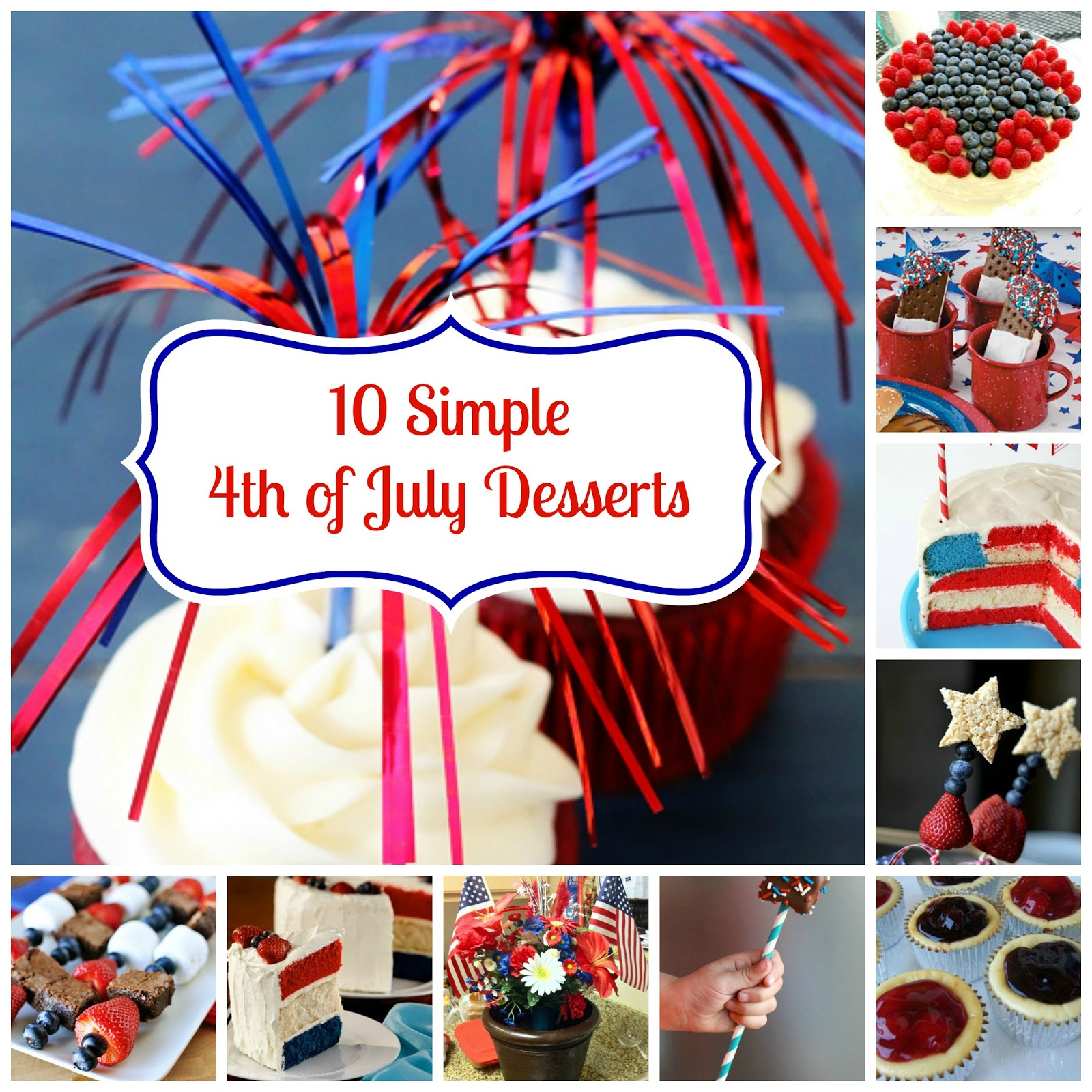 Crafty mom blog simple 4th of july desserts for Fourth of july party dessert ideas