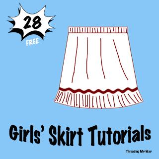 28 FREE Girls' Skirt Tutorials ~ Threading My Way