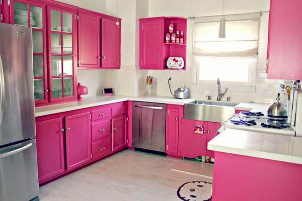 warna cerah cat dapur yang cocok bikin dapur luas