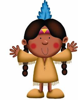 niña disfrazada de india
