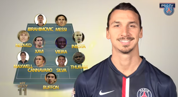 Zlatan Ibrahimovic reveals his dream team