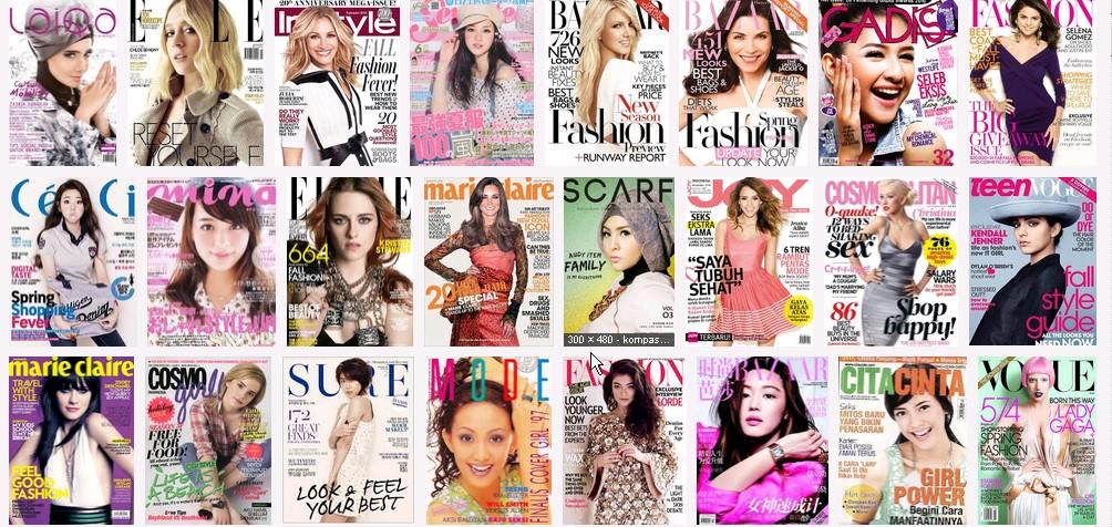 Daftar Lengkap Majalah Fashion Wanita Dunia