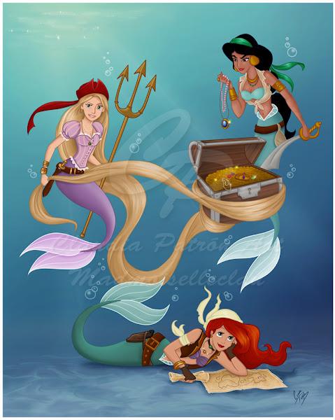 Mermaid Pirate Disney Princesses