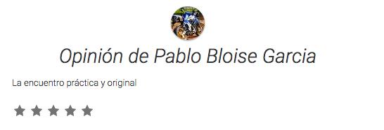 Opinión de Pablo Bloise Garcia
