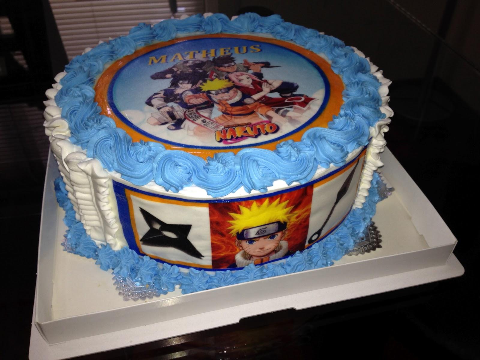decoracao festa naruto:Fantasia Festas: Bolo Naruto