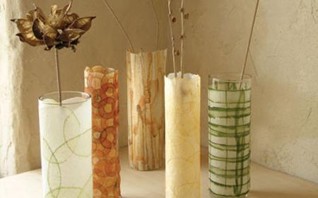 hoy vamos a hacer jarrones con unos simples vasos de tubo o de lo que