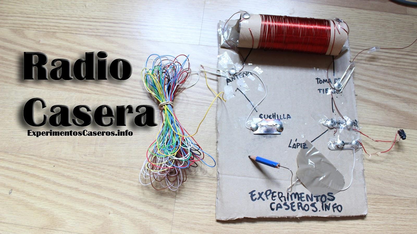 Cómo hacer una radio casera, foxhole radio, experimentos caseros
