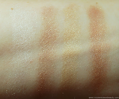 Maybelline ExpertWear Luminous Lights Eyeshadow Quad in Gold Lights Swatches