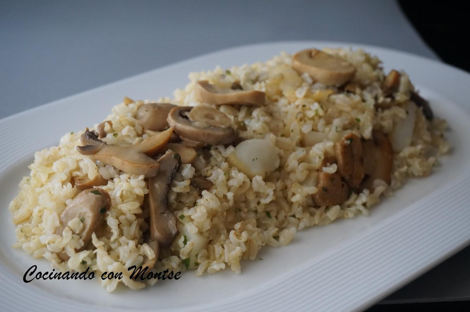 Cocinando Con Montse Arroz Integral Con Sepia Y Champi Ones